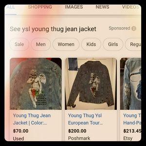 Ysl Young Thug European Tour Denim Jacket